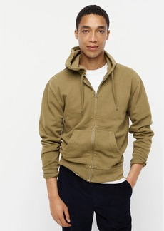 J.Crew Garment-dyed french terry full-zip hoodie