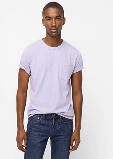 J.Crew Garment-dyed slub cotton crewneck T-shirt