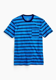 Garment-dyed T-shirt in harbor stripe