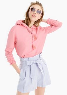 J.Crew Garment-dyed tassel hoodie sweatshirt