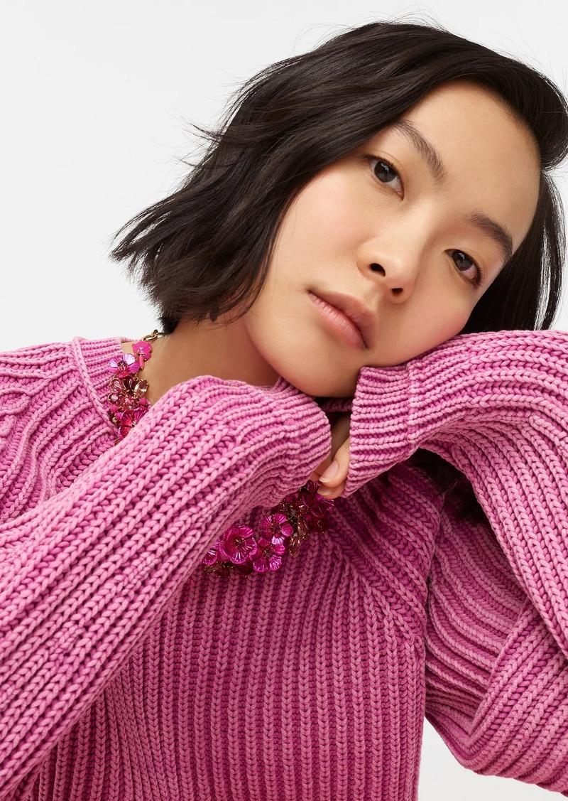J.Crew Garment-washed crewneck sweater