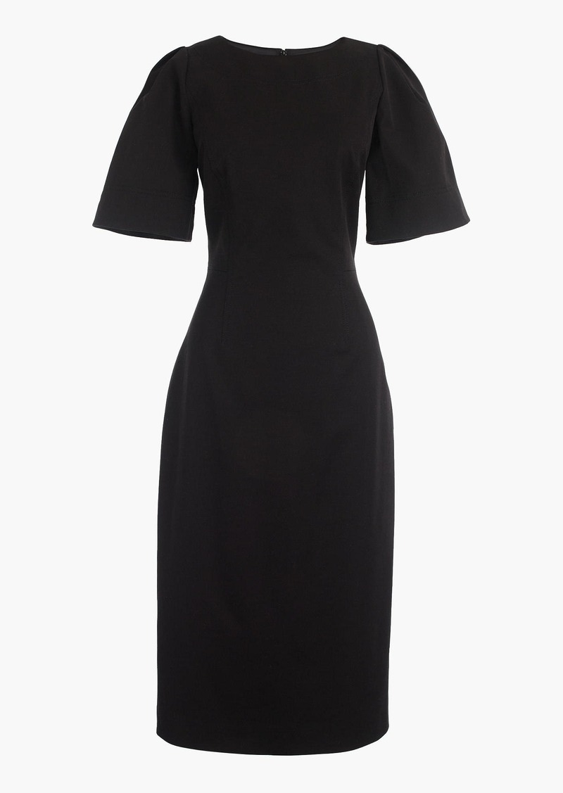J.Crew Gathered-sleeve dress in two-way stretch cotton
