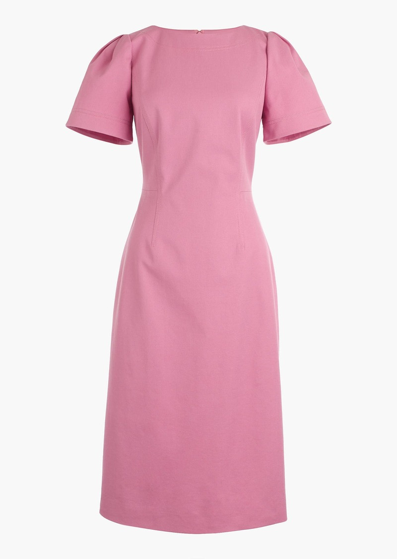 J.Crew Gathered-sleeve dress in bi-stretch cotton