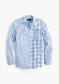 Gingham cocktail shirt
