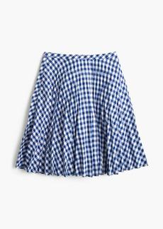 Gingham pleated mini skirt