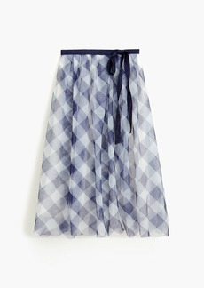 Gingham tulle skirt