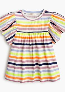J.Crew Girls' bell-sleeved T-shirt in stripes