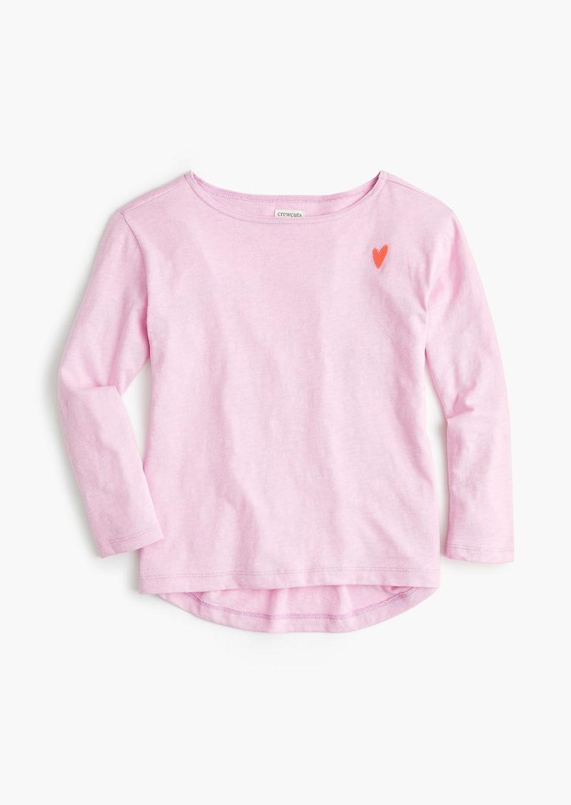 a0baaf7b87b J.Crew Girls  boatneck T-shirt with heart