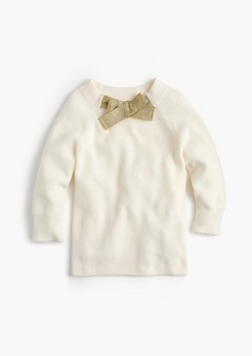J.Crew Girls' bow-tied popover sweater