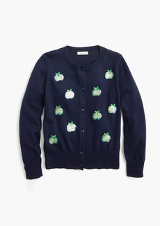 J.Crew Girls' cardigan sweater with apples