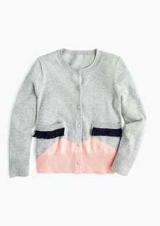 J.Crew Girls' cardigan sweater with face