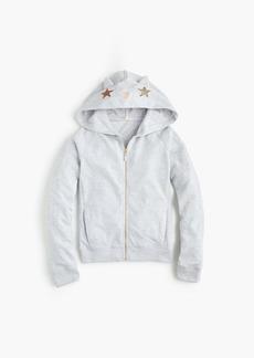 J.Crew Girls' cat hoodie
