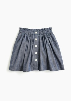 J.Crew Girls' chambray button-front skirt