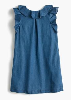 J.Crew Girls' chambray ruffle dress
