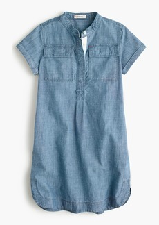 J.Crew Girls' chambray shirtdress