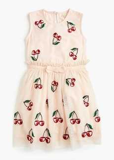 J.Crew Girls' cherry-embroidered dress