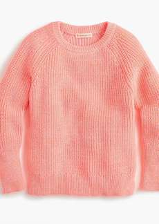 J.Crew Girls' cotton crewneck sweater