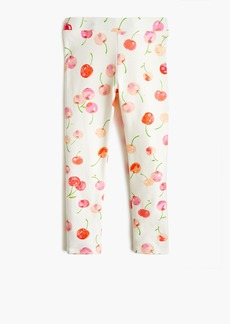 J.Crew Girls' cropped everyday leggings in cherry print