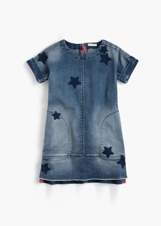 J.Crew Girls' denim dress in star print