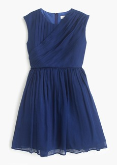 J.Crew Girls' draped dress in crinkle chiffon