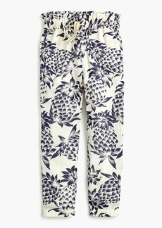 J.Crew Girls' drawstring pant in pineapple print