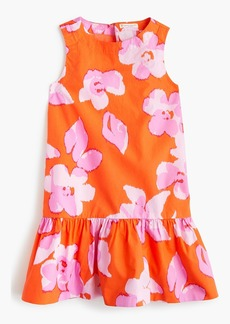 J.Crew Girls' drop-waist dress in floral