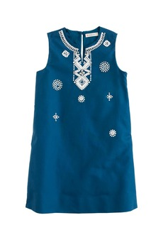 J.Crew Girls' embellished dress in cotton cady