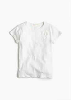 J.Crew Girls' embellished flower T-shirt