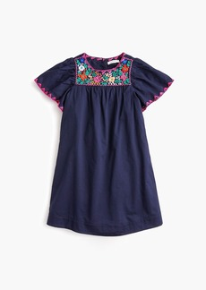 J.Crew Girls' embroidered  bib dress