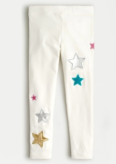 J.Crew Girls' everyday legging with star patches