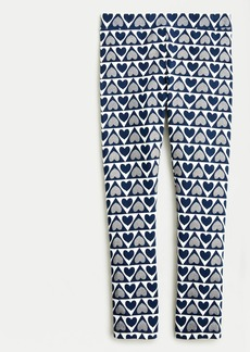 J.Crew Girls' everyday leggings in courtly hearts print