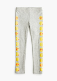 J.Crew Girls' everyday leggings in emoji tux stripes