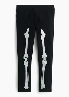 J.Crew Girls' everyday leggings in glow-in-the-dark bones