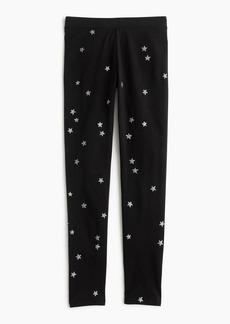 J.Crew Girls' everyday leggings in silver constellation print