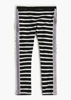 J.Crew Girls' everyday leggings with tux stripe