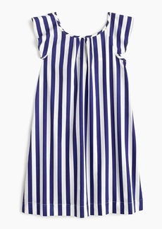J.Crew Girls' flutter-sleeve dress in candy stripes