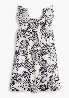 J.Crew Girls' flutter-sleeve dress in pineapple print
