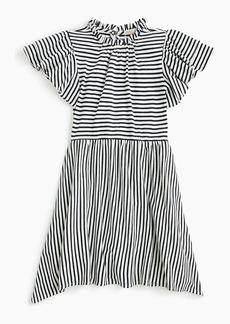 J.Crew Girls' flutter-sleeve dress in stripes