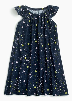 J.Crew Girls' flutter-sleeve nightgown in hearts and stars