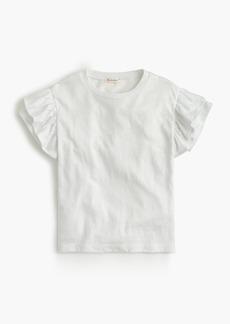 J.Crew Girls' flutter-sleeve T-shirt