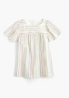 J.Crew Girls' flutter-sleeve top in rainbow stripe