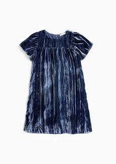 J.Crew Girls' flutter-sleeved dress in crushed velvet