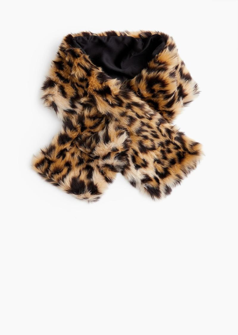 d6d5383c5cd20 J.Crew Girls' fur scarf in leopard   Misc Accessories