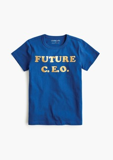 "J.Crew Girls' ""future c.e.o."" T-shirt"