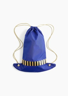 J.Crew Girls' hat-shaped drawstring backpack