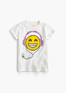 J.Crew Girls' headphone-wearing emoji T-shirt