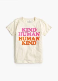 """J.Crew Girls' """"human kind"""" T-shirt"""