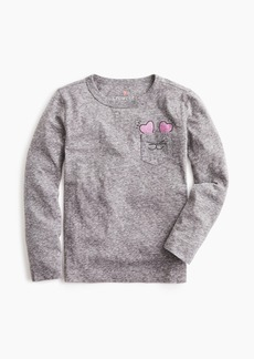J.Crew Girls' kitty pocket long-sleeve T-shirt