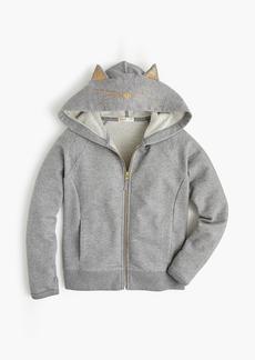 J.Crew Girls' kitty zip hoodie