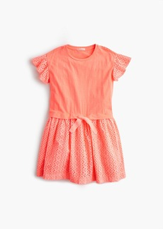 J.Crew Girls' knit and eyelet dress